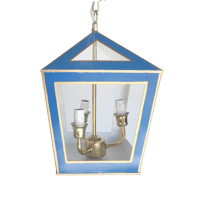 Dana Gibson Solid Navy Tucker Lantern - Image 2 of 2