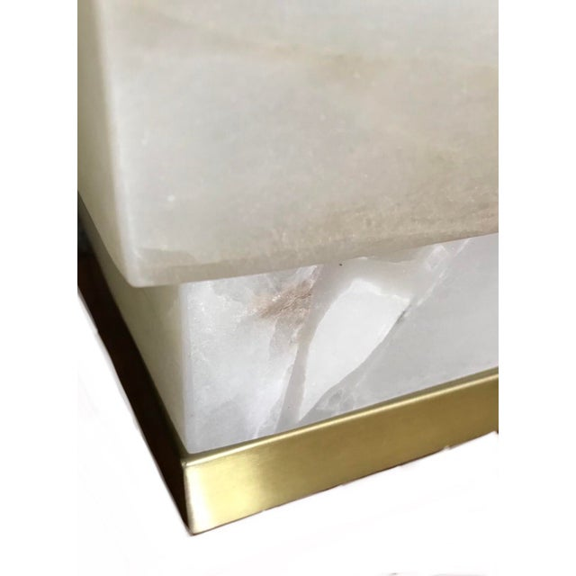 Contemporary Alabaster Table Lamps - a Pair For Sale - Image 4 of 9