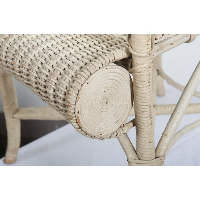 Rare Vienna Secession Wicker Armchairs by Hans Vollmer for Prag-Rudniker For Sale - Image 4 of 11