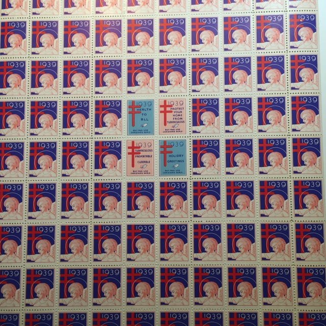 Vintage Angel Christmas Stamps For Sale - Image 5 of 5