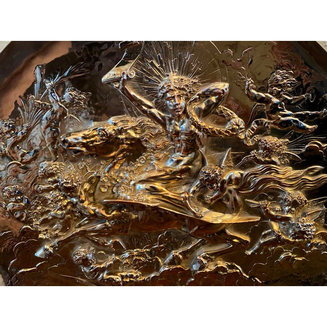 1950s Vintage English Silver Plate Repoussé Charger by Elkington and Co. For Sale - Image 5 of 13