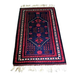 "Turkish Yagcibedir Wool Rug - 3'7"" X 6'3"""