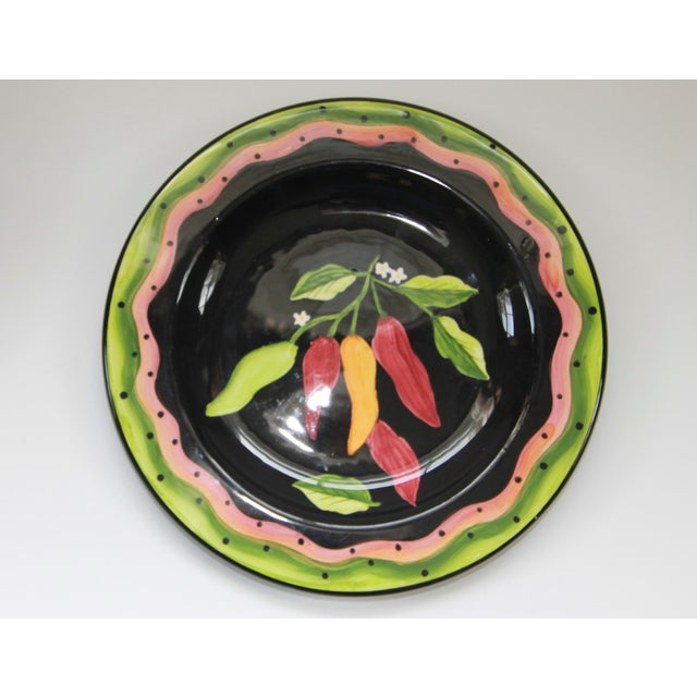 Laurie Gates Hand Painted Dessert Plates - Set 4 - Image 3 of 4