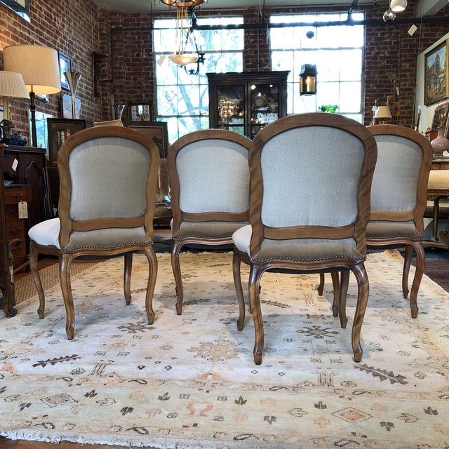 Louis XV Style Walnut Dining Chairs - Set of 4 - Image 5 of 9