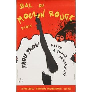 """""""Bal Du Moulin Rouge, Paris (Frou Frou)"""", Lithograph Poster by Rene Gruau For Sale"""