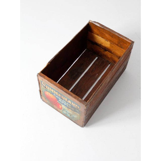 Vintage Apple Crate Wood Box - Image 6 of 7