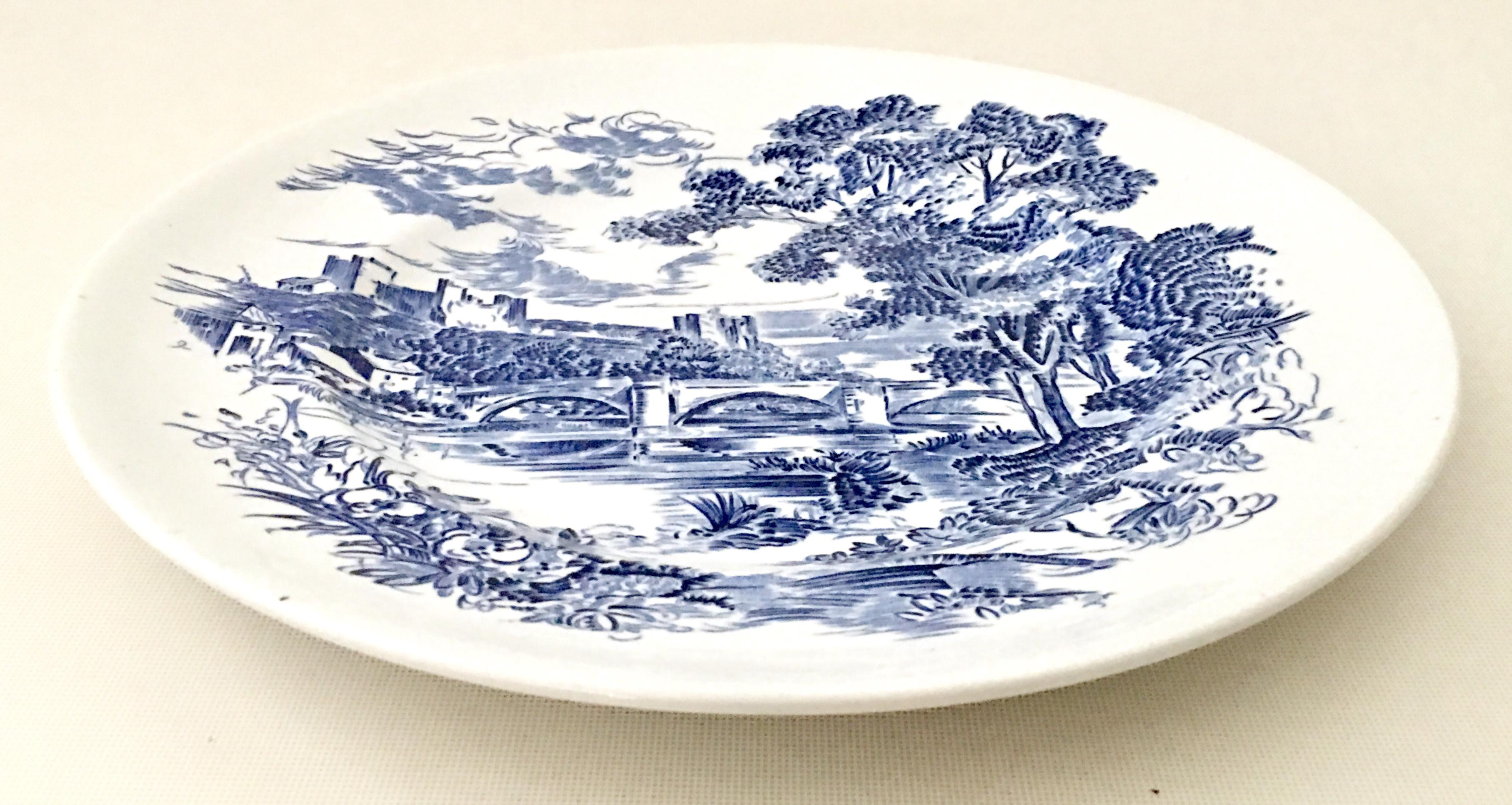 Wedgwood England Dinner Plates  Countryside Blue  1950s - Set of 12 - Image  sc 1 st  Chairish & Wedgwood England Dinner Plates