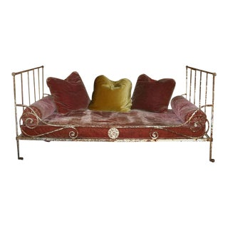 French 19th Century Folding Iron Bed For Sale