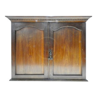 Early 20th Century Walnut Wall Cabinet For Sale