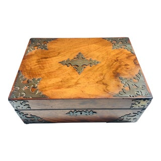 English Victorian Lap Desk or Stationary Storage Box For Sale