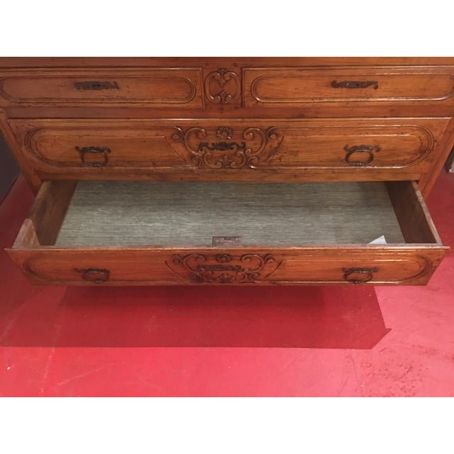 French Louis XV Provencal Period Four Drawer Chest For Sale - Image 6 of 12