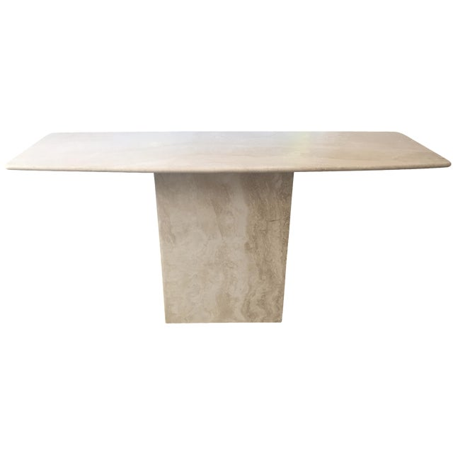 Italian Travertine Marble Console Table - Image 1 of 8