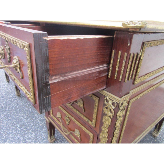 Metal French Empire Style Desk with Leather Top For Sale - Image 7 of 10