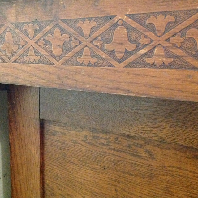 Antique Knights of Pythias Oak Table or Stand - Image 7 of 7