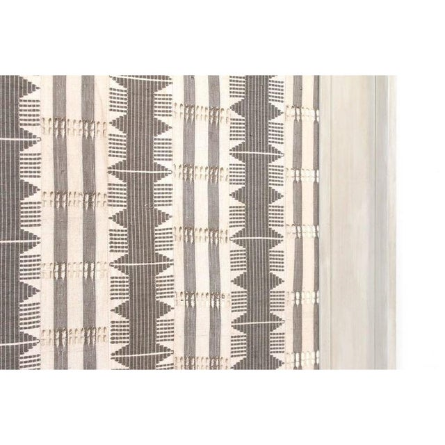 1970s 1970s Framed Modernist Textile For Sale - Image 5 of 13