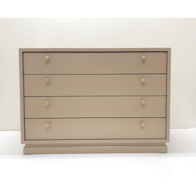 Modern Lacquered and Brass Nightstand by Steve Chase For Sale - Image 3 of 9