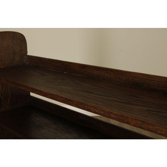 Wood Antique Mission Arts & Crafts Oak Bookshelf For Sale - Image 7 of 13