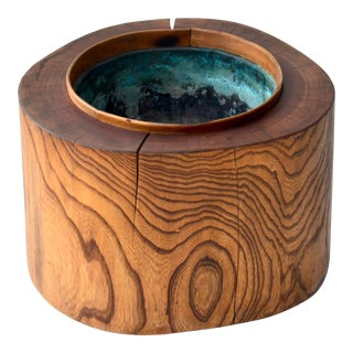 Antique Japanese Tree Trunk Hibachi For Sale