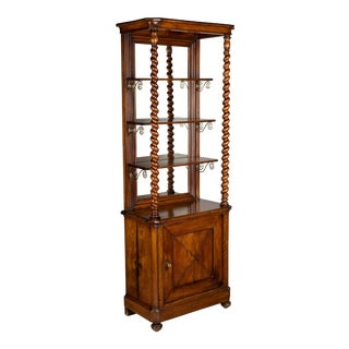 19th Century French Mahogany Cabinet With Shelves For Sale