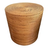 Image of 1960s Gabriella Crespi Style Pencil Reed Drum Table For Sale