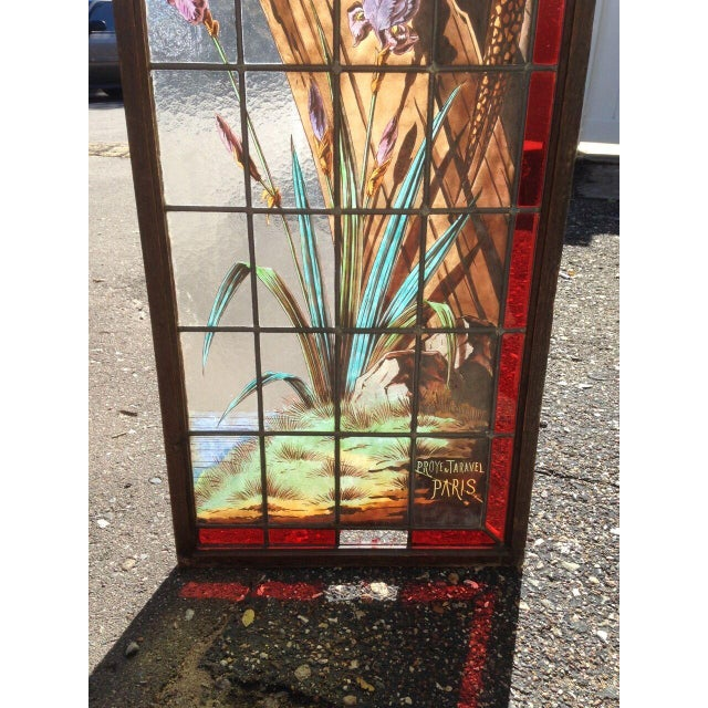 Late 19th Century French Painted and Fired Stained Glass Windows - a Pair For Sale - Image 4 of 13