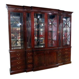 Federal Style Mahogany Breakfront For Sale