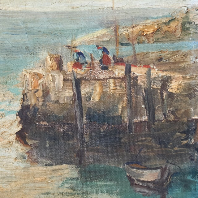 Daisy Thayer Wright Vintage 1940 Nautical Painting For Sale In San Francisco - Image 6 of 8