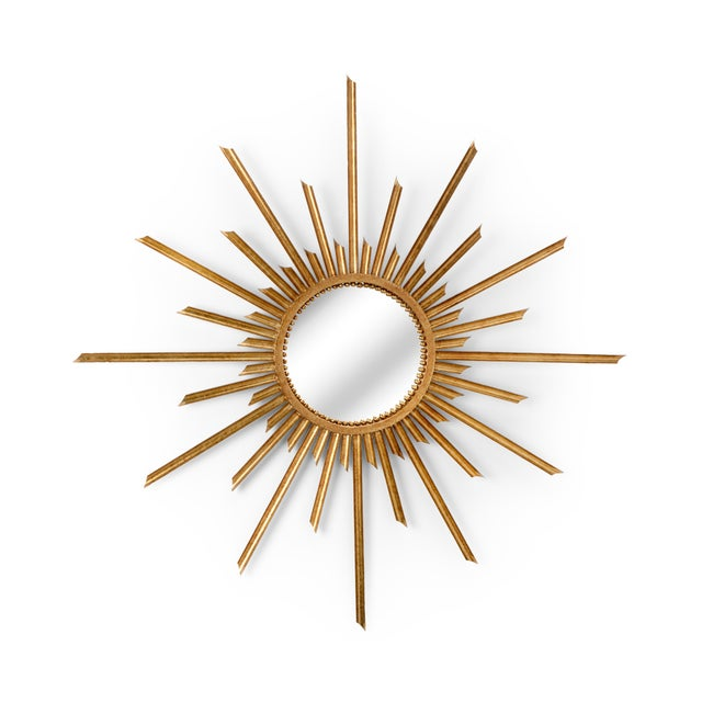 Contemporary Ra Wall Mirror in Gold For Sale - Image 3 of 3