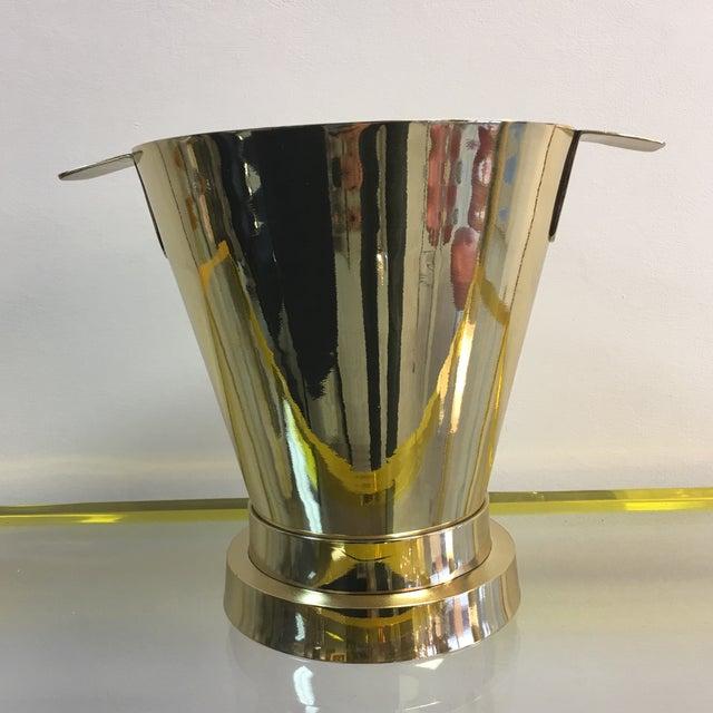 1940's Art Deco Brass Ice Bucket - Image 5 of 7