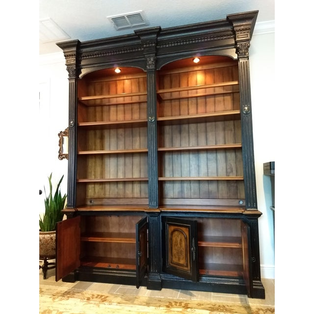 Double Credenza & Double Bookcase Library Cabinet (2 Pieces by Hooker Furniture) (North Hampton Collection): The Double...