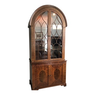 Baker Bonnet Top Cabinet/Bookcase For Sale