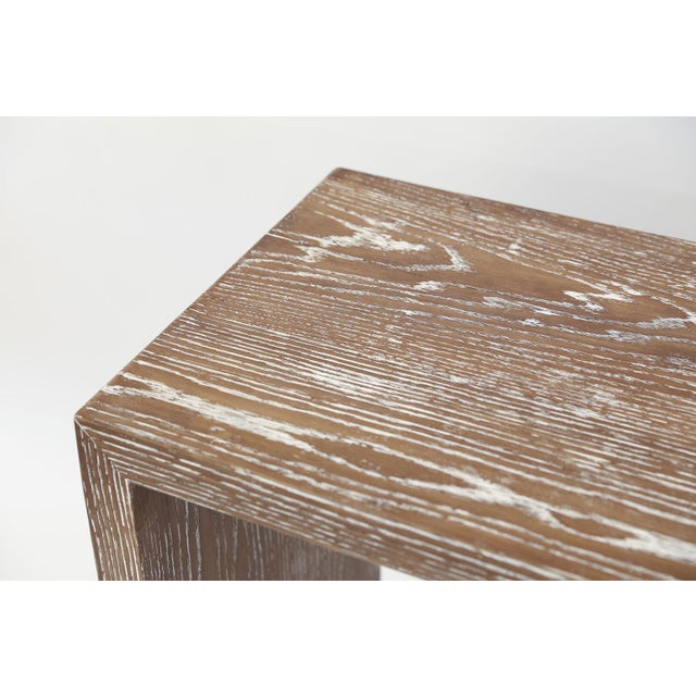 Mid-Century Cerused Oak Console For Sale - Image 10 of 13