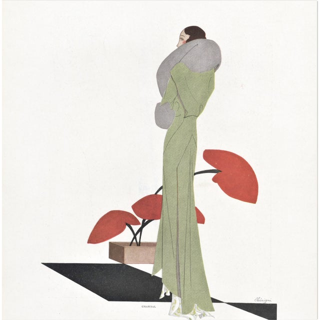 French Art Deco Fashion Print For Sale - Image 4 of 4