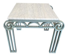 Image of Newly Made Turquoise Side Tables