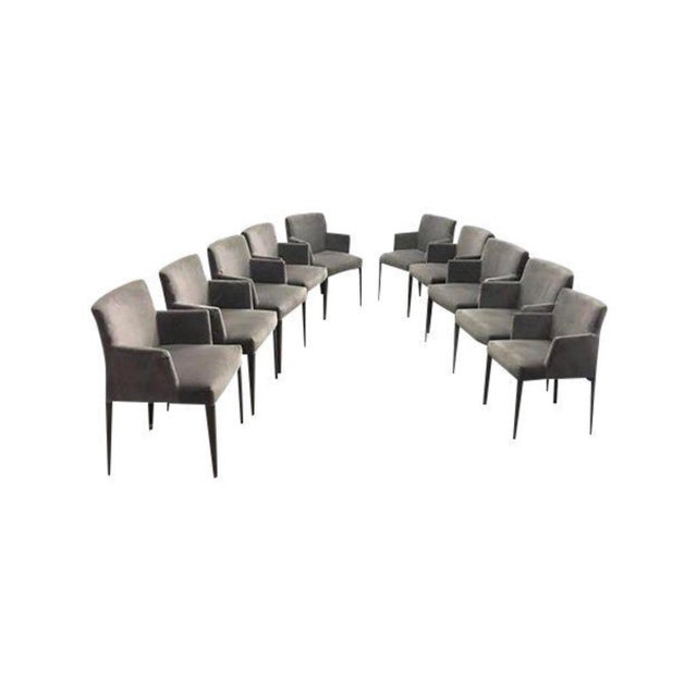 Antonio Citterio B&b Melandra Dining Arm Chairs - Set of 10 For Sale - Image 4 of 4