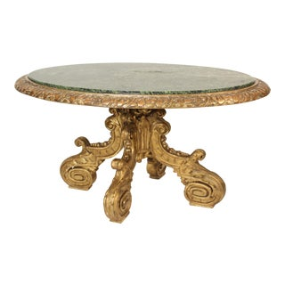 19th Century Louis XIV Style Gilt Wood Center Table For Sale