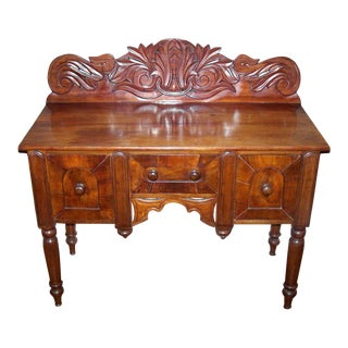 Early 19th C Caribbean Mahogany Sideboard or Cupping Table For Sale