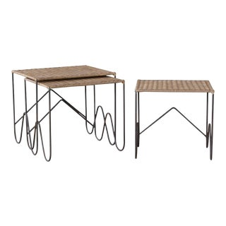 Wicker Nesting Tables For Sale