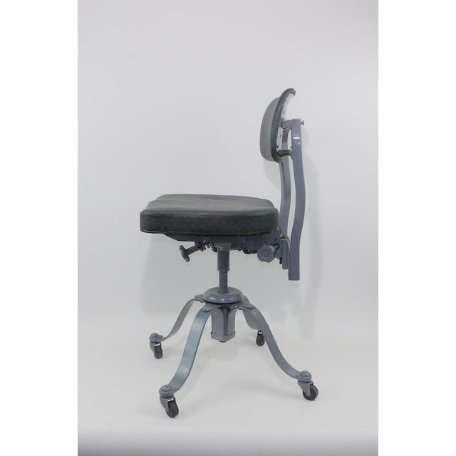 Remington Rand Mid-Century Adjustable Mechanical Age Industrial Office Chair For Sale - Image 5 of 11