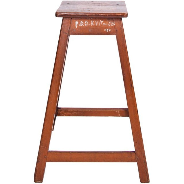 This circa 1880 French wood stool will be sure to add a touch of European charm to your space.