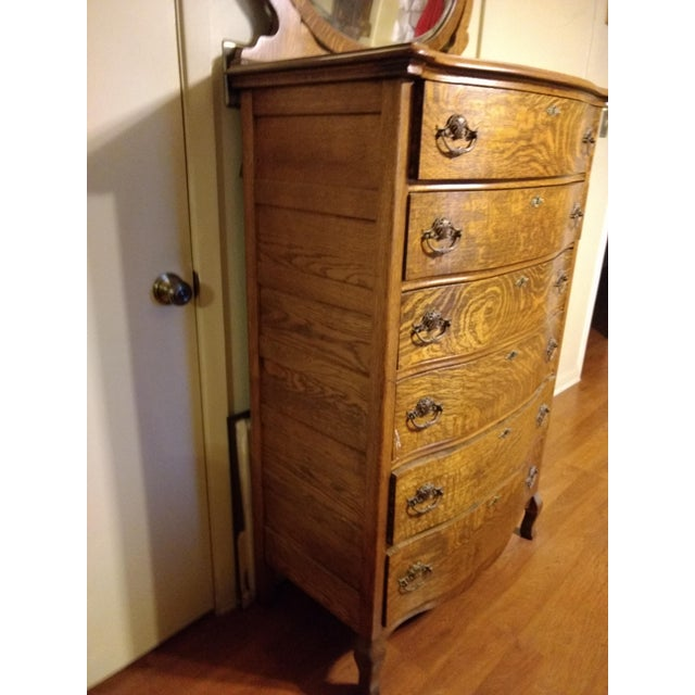 Traditional 20th Century Traditional Restored Tiger Oak Highboy For Sale - Image 3 of 9