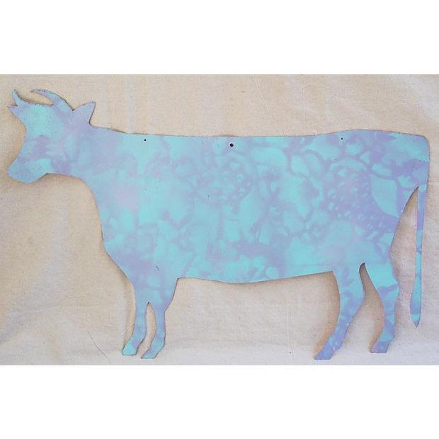 Reclaimed Metal Dairy Cow Silhouette - Image 3 of 3