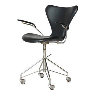 Arne Jacobsen Swivel Desk Chair Model #3217 For Sale