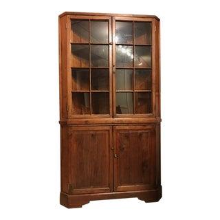 18th C American Walnut Corner Cupboard For Sale