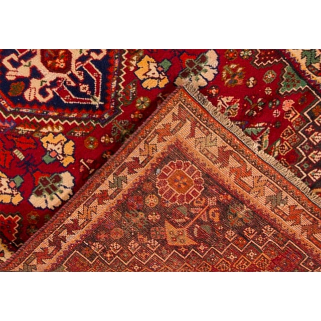 """Traditional Mid-20th Century Vintage Persian Shiraz Rug, 3'6"""" X 5' For Sale - Image 3 of 7"""