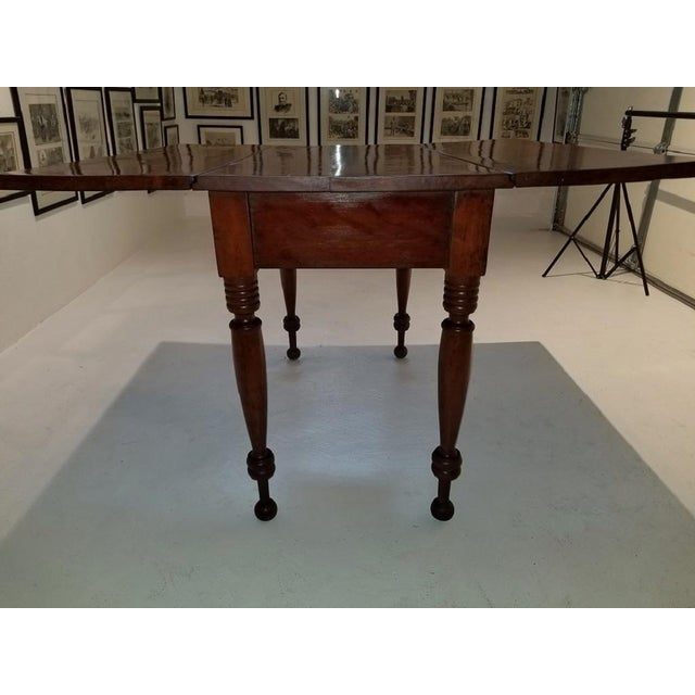 19c Virginia Shaker Drop Leaf Table - With Provenance For Sale - Image 9 of 13