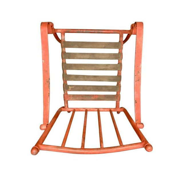 Mid-Century Modern Set of Four Mid-20th Century American Iron Patio Chairs For Sale - Image 3 of 12