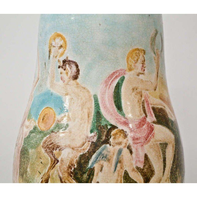 Pink Circa 1940 Professor Eugenio Pattarino Ceramic Lamp Italy For Sale - Image 8 of 11