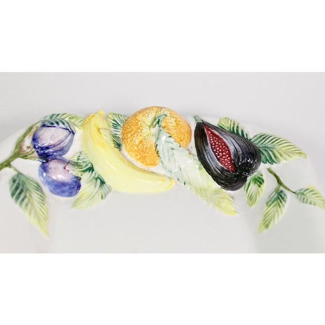 Large Repoussé Majolica Fruit Motif Serving Platter For Sale In Los Angeles - Image 6 of 7