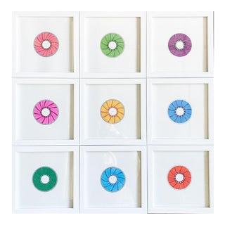 Natasha Mistry Minimalist Geometric Donut Ink Drawings - Set of 9 For Sale